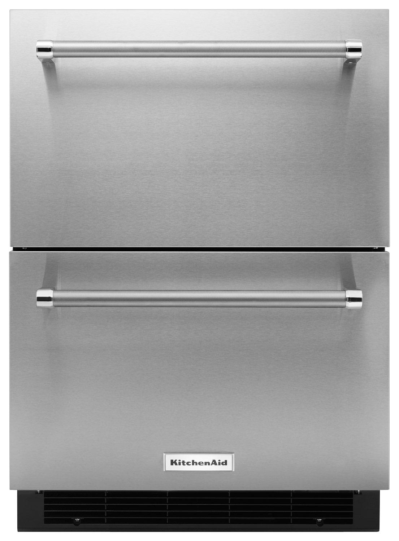 Kitchenaid Refrigerator Black Stainless kitchenaid 4.7 cu. ft. compact double-drawer refrigerator silver