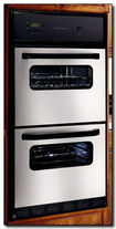 "Frigidaire - 24"" Single Gas Wall Oven with Built-In Full-Size Lower Broiler - Stainless-Steel"