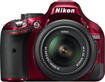 Nikon - D5200 DSLR Camera with 18-55mm VR Lens - Red