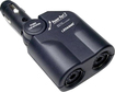 Lenmar - 1-to-2 DC Vehicle Power Adapter - Black