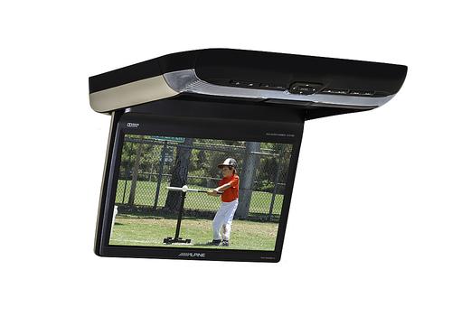 Alpine - 10.2 Overhead Flip-Down Touch-Screen DVD Player - Black