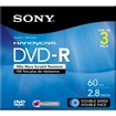 Sony - DVD Recordable Media - DVD-R - 2.80 GB - 3 Pack Jewel Case