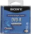 Sony - DVD Recordable Media - DVD-R - 2.80 GB - 3 Pack Jewel Case - Blue/Black