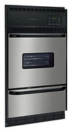 """Frigidaire - 24"""" Built-In Single Gas Wall Oven - Black/Silver"""