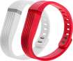Wocase - Flexband 3d One-size Wristbands For Fitbit Flex Activity And Sleep Trackers (2-pack) - White/red Deal