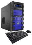 CybertronPC - Hyper-2X970 Desktop - Intel Core i7 - 32GB Memory - 2TB Hard Drive + 128GB Solid State Drive - Blue