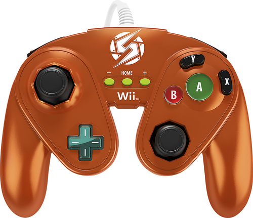 PDP - Fight Pad for Nintendo Wii U and Wii - Metallic Orange