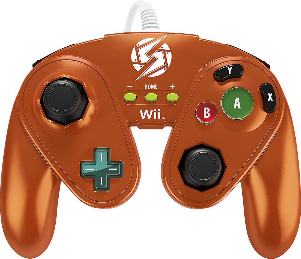 Pdp - Fight Pad For Nintendo Wii U And Wii - Metallic Orange