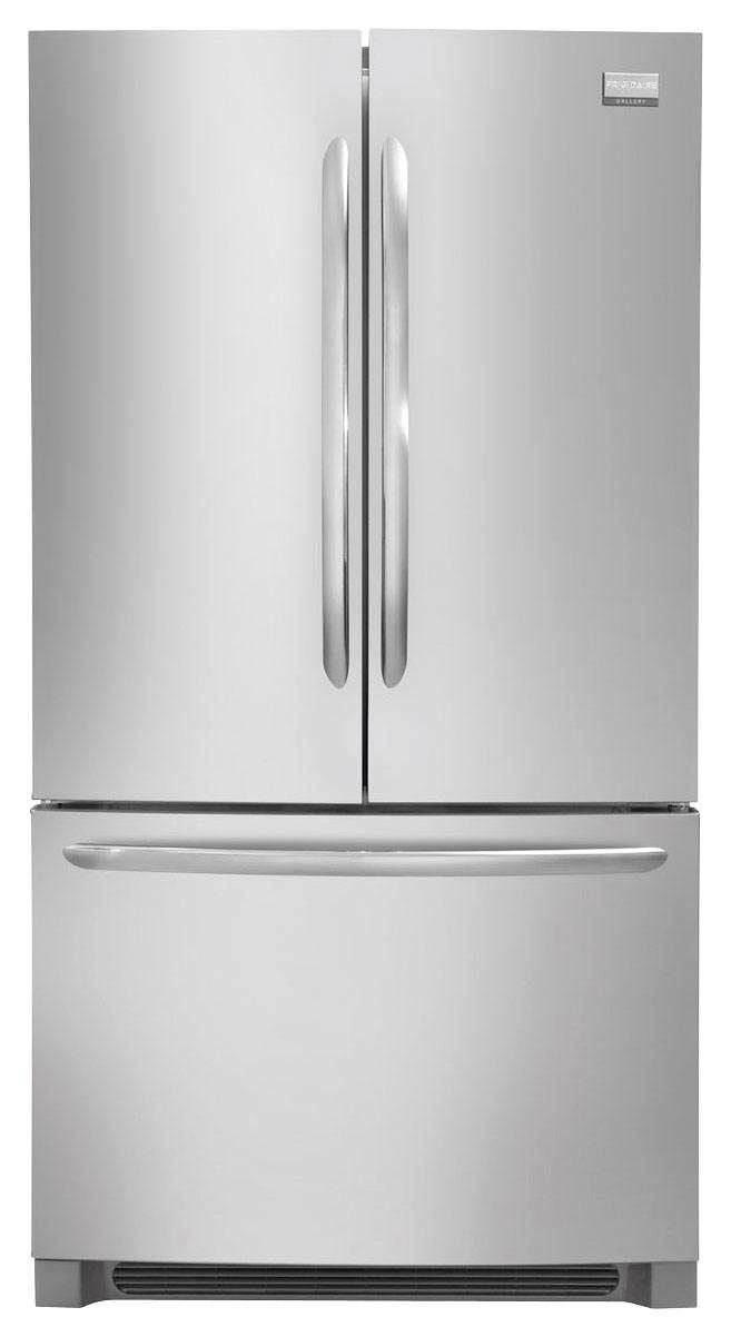 Frigidaire - Gallery 22.4 Cu. Ft. French Door Counter-Depth Refrigerator - Stainless Steel