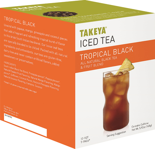 Takeya - Tropical Black Iced Tea Packets (12-Pack) - Orange