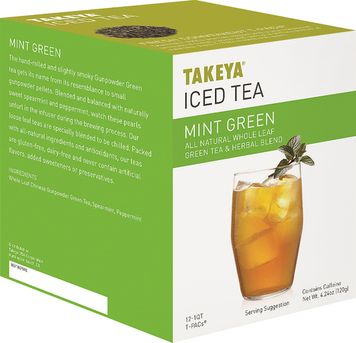 Takeya - Mintopia Green Iced Tea Packets (12-Pack) - Green