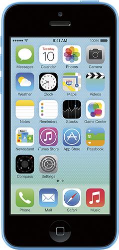 Apple® - iPhone 5c 8GB Cell Phone - Blue (Sprint)