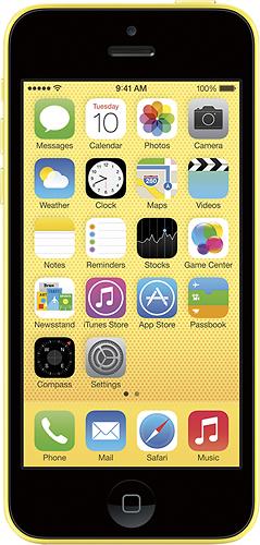 Apple® - iPhone 5c 8GB Cell Phone - Yellow (Verizon Wireless)