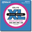 D'Addario - Light XL Electric Bass Guitar Strings - Silver