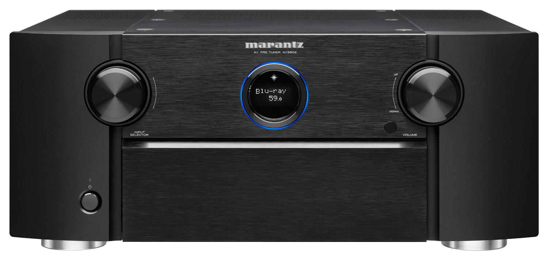 Marantz - 11.2-Ch. Network-Ready 4K Ultra HD and 3D Pass-Through A/V Home Theater Preamplifier - Black