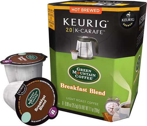 Keurig - Green Mountain Breakfast Blend K-Carafe Pods (8-Pack)