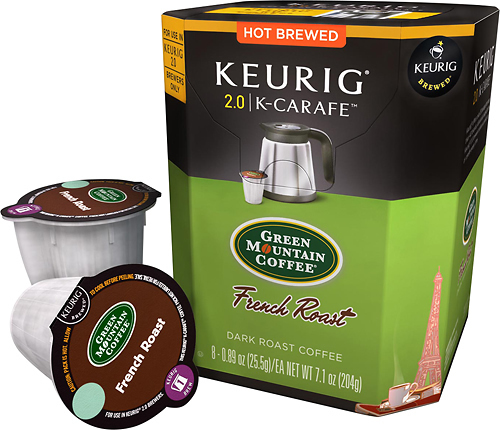 Keurig - Green Mountain French Roast K-Carafe Pods (8-Pack) - Multi