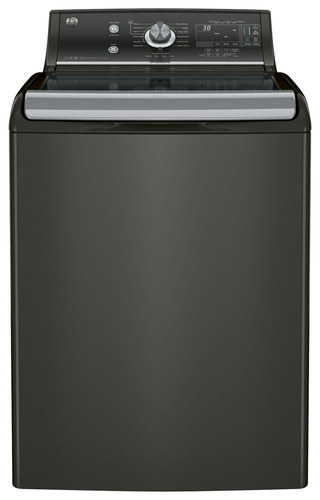 GE - 5.1 Cu. Ft. 13-Cycle Top-Loading High-Efficiency Washer - Metallic Carbon