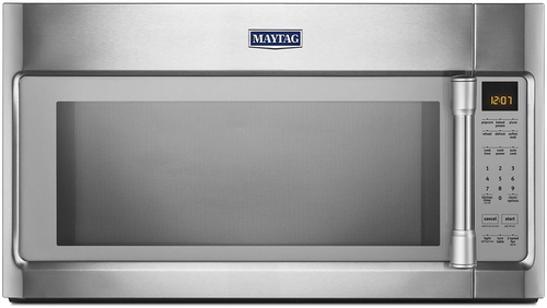 Maytag - 2.0 Cu. Ft. Over-the-Range Microwave with Sensor Cooking - Stainless Steel