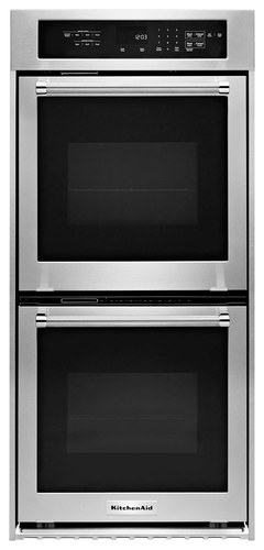 KitchenAid - 24 Built-In Double Electric Convection Wall Oven - Stainless Steel