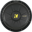 "Kicker - CompS 12"" Single-Voice-Coil 4-Ohm Subwoofer - Black"