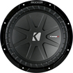 "Kicker - CompR 10"" Dual-Voice-Coil 2-Ohm Subwoofer - Black"
