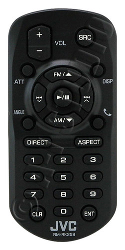 JVC - Wireless Remote for Multimedia Receivers - Black