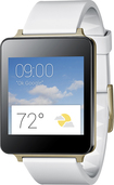 LG - G Watch for Select Android Devices - White Gold