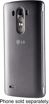 LG - Quick Circle Folio Case for LG G3 Cell Phones - Black
