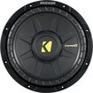 "Kicker - CompS 10"" Single-Voice-Coil 4-Ohm Subwoofer - Black"