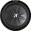 "Kicker - CompR 12"" Dual-Voice-Coil 2-Ohm Subwoofer - Black"