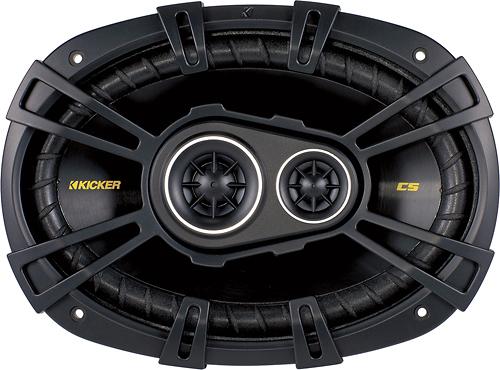"Kicker - CS694 6"" x 9"" Coaxial Speakers with Polypropylene Cones (Pair) - Black"