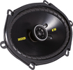 "Kicker - CS68 6"" x 8"" Coaxial Speakers with Polypropylene Cones (Pair) - Black"