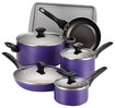 Click here for Farberware - 15-piece Cookware Set - Purple prices