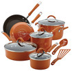Rachael Ray - Cucina 12-piece Nonstick Cookware Set - Espres