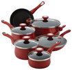 Click here for Farberware 14-Piece Cookware Set, Red prices