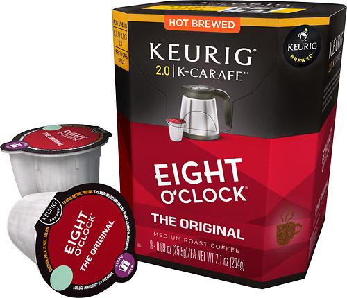 Keurig - Eight O'clock Coffee the Original K-Carafe Pods (8-Pack) - Multi