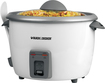 Black & Decker - 28-Cup Rice Cooker and Steamer - White