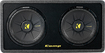 "Kicker - DCompS12 Dual 12"" Single-Voice-Coil 2-Ohm Subwoofers with Enclosure - Black"