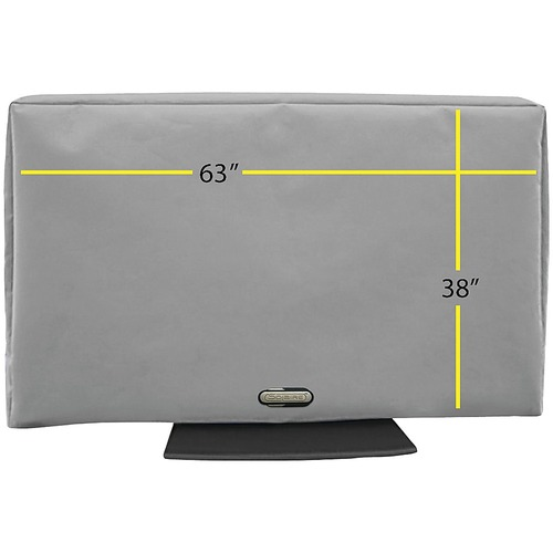 Solaire - Outdoor TV Cover for Most Flat-Screen TVs Up to 70 - Neutral Gray