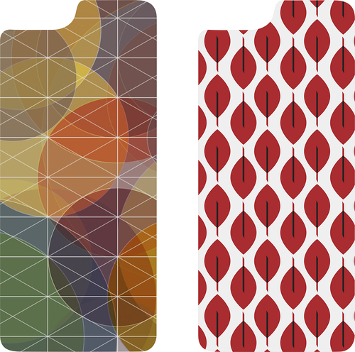 OtterBox - Symmetry Series Hard Shell Insert for Apple® iPhone® 6 and 6s - Fall Grid/Fan Red