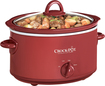 Crock Pot - 4-Quart Oval Slow Cooker - Red
