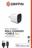 Griffin Technology - PowerBlock Wall Charger - White