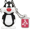 EMTEC - Looney Tunes Sylvester 8GB USB 2.0 Flash Drive - Black/White
