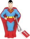 EMTEC - DC Comics Superman 8GB USB 2.0 Flash Drive - Blue/Red