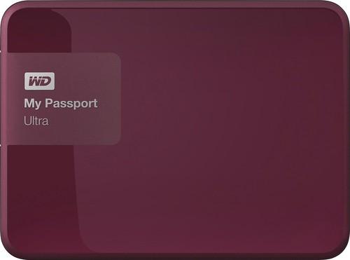 WD - My Passport Ultra 2TB External USB 3.0/2.0 Portable Hard Drive - Wild Berry