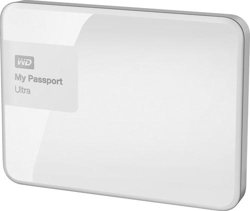 WD WDBWWM5000AWT-NESN My Passport Ultra 500GB External USB 3.0/2.0 Portable Hard Drive Brilliant White