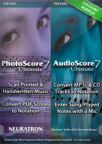 PhotoScore Ultimate 7 and AudioScore Ultimate 7 Bundle - Mac|Windows