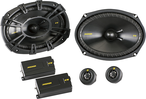 Kicker - CS Series 6 x 9 Component Speakers with Polypropylene Cones (Pair)
