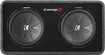 "Kicker - CompR Dual 12"" Dual-Voice-Coil 2-Ohm Subwoofers with Enclosure - Black"